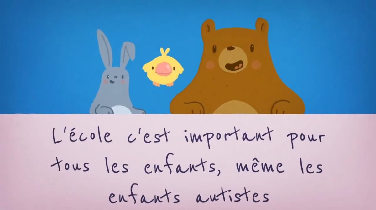 Vidéo sur l'inclusion scolaire à destination des enfants